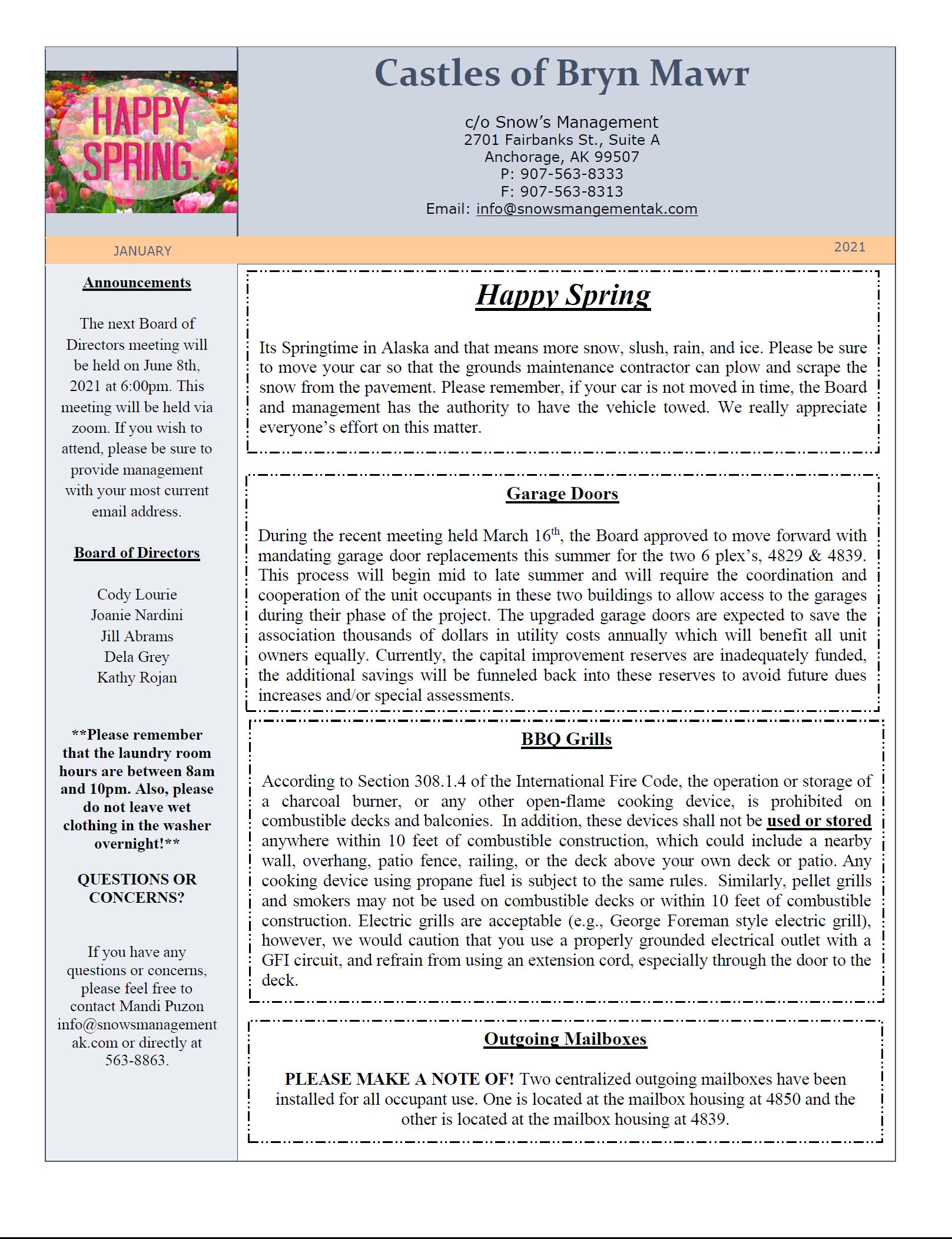 CBM Spring Newsletter